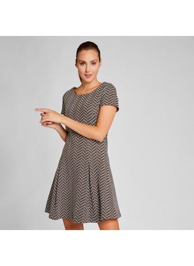Vekem-Limited Edition Kayık Yaka Pamuklu Elbise Kiremit
